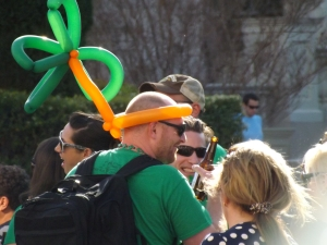 St Patrick's Day revelers discuss the previous Days events March of 2014 - Royal Hopper