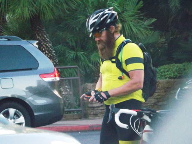 Bearded dude on a bike