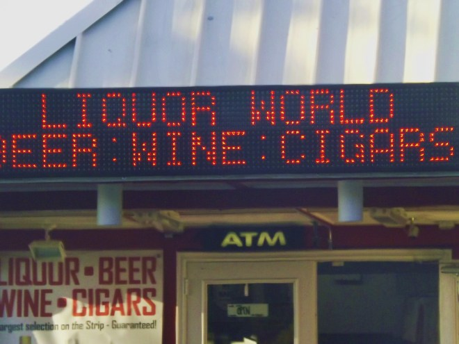 The Perfect Vegas Strip Mall..Liquor World