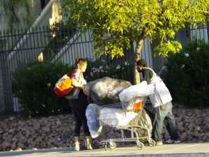 Two shopping carts passing in the night ....file Photo by Royal