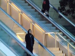Guy on escalator - Royal Hopper