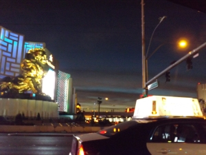 sunrise on the strip