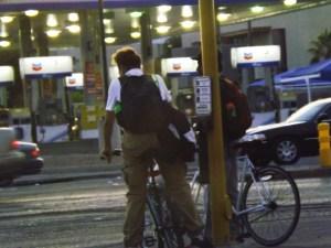 Bike guys meet at the corner - Royal Hopper