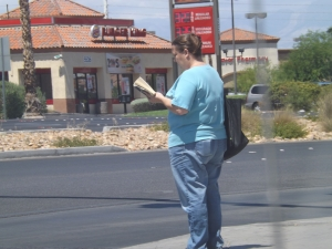 Standing a reading. The latest Sin City craze ??? by Royal Hopper