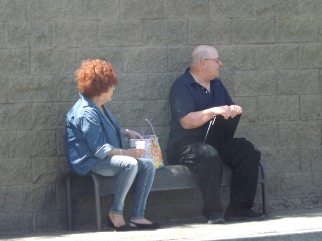 people together on a bench