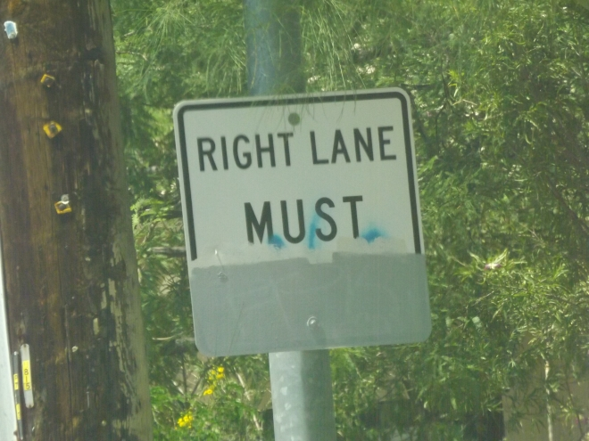 a right lane must what