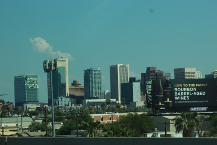 Phoenix cityscape, Arizona Air National Guard F 16s and a assorted Americana
