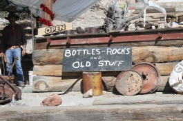bottles rocks and old stuff